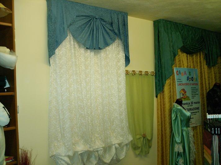Tende e mantovane sartoria casaesposa abiti da sposa for Mantovane per tende